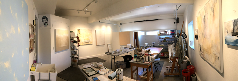 Chris Henry's art studio before the fire.