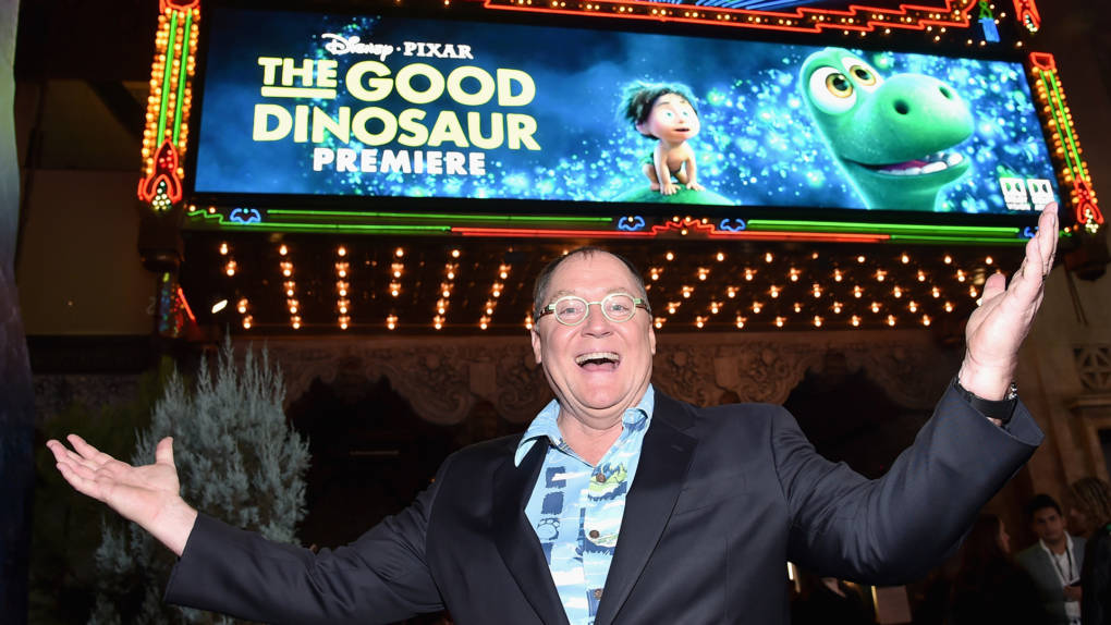 John Lasseter attends the World Premiere Of Disney-Pixar's 'The Good Dinosaur' at the El Capitan Theatre on November 17, 2015 in Hollywood, California.