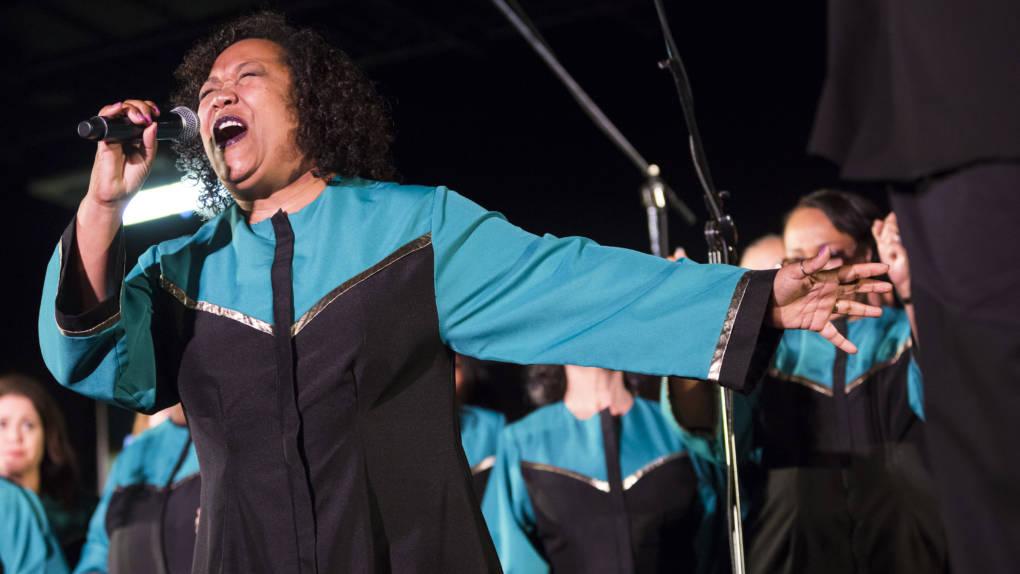 Members of the Oakland Interfaith Gospel Choir