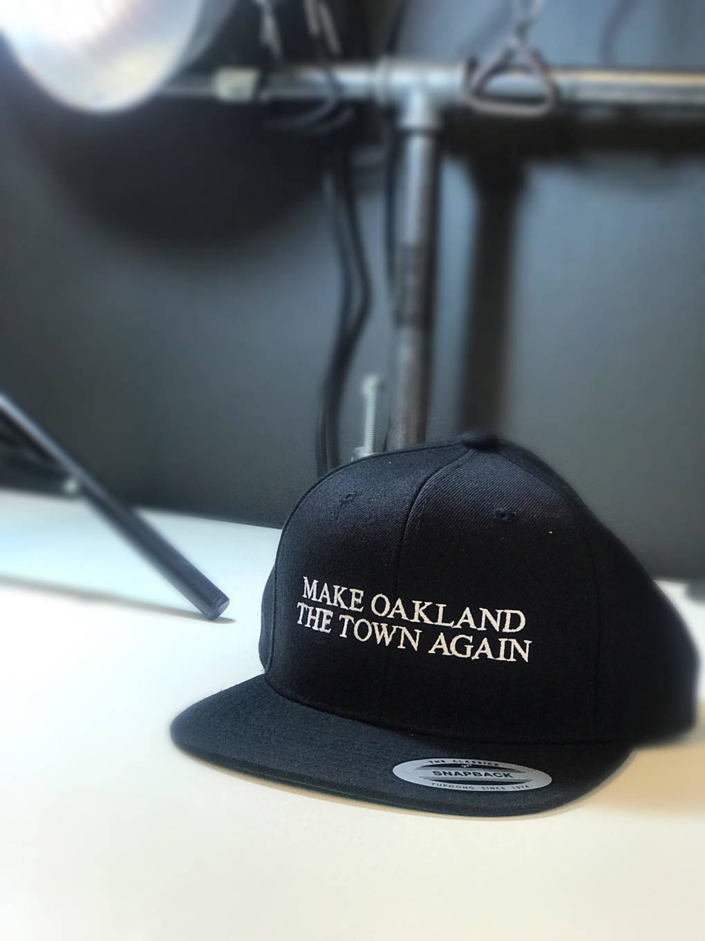 I Am The Town's 'Make Oakland The Town Again' hat.