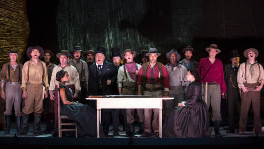 "The San Francisco Opera piano dress rehearsal of ""Girls of the Golden West."" At the War Memorial Opera House"
