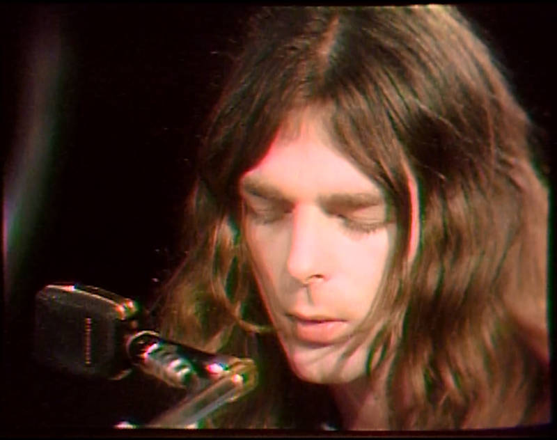 Pink Floyd's Richard Wright singing during 1970 performance