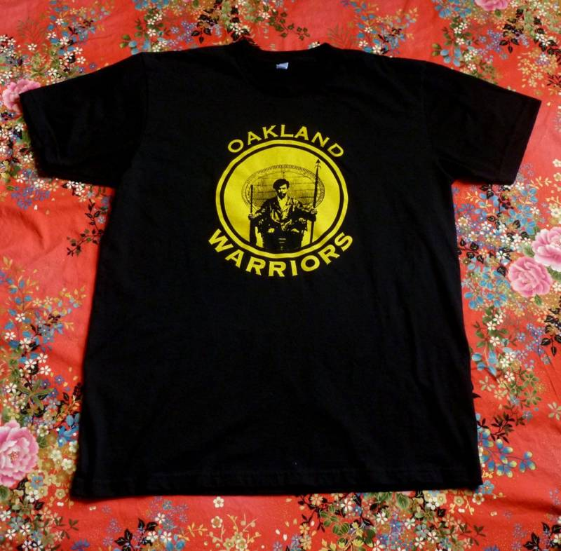 Eesuu Orundide's Huey Newton-inspired Oakland Warriors shirts.