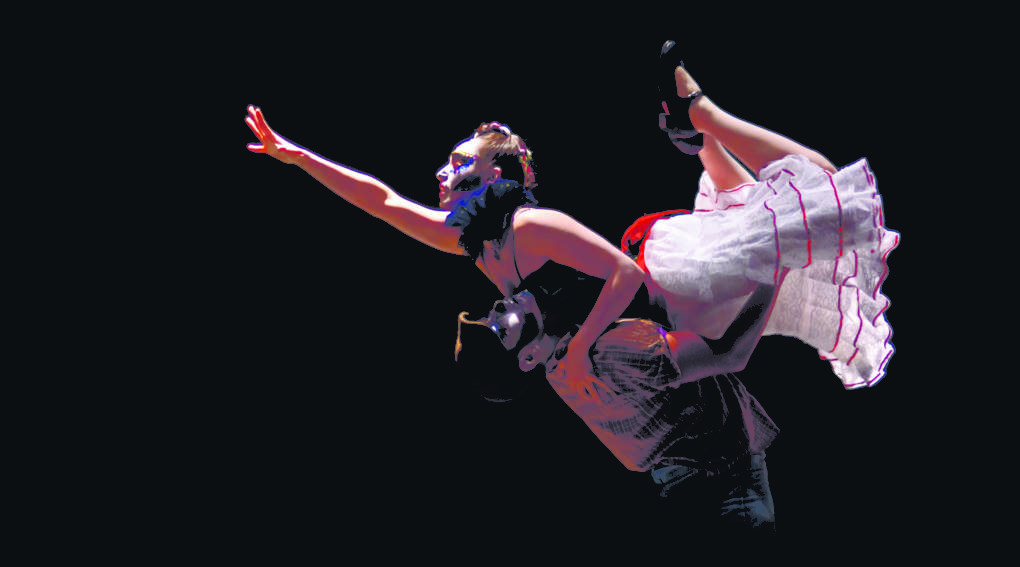Dancers Mayra Enriquez and Norberto Martinez are featured in 'Una Opera Muerta' at the Brava Theater Center