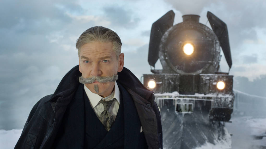 The mustache should get second billing: Kenneth Branagh is Hercule Poirot in 'Murder on the Orient Express.'
