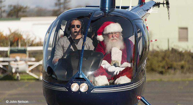 Santa in the cockpit