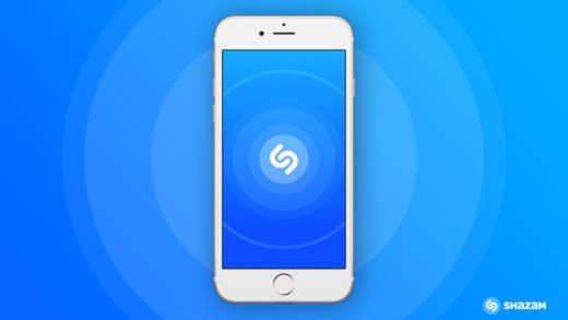 The Shazam app on an iPhone.