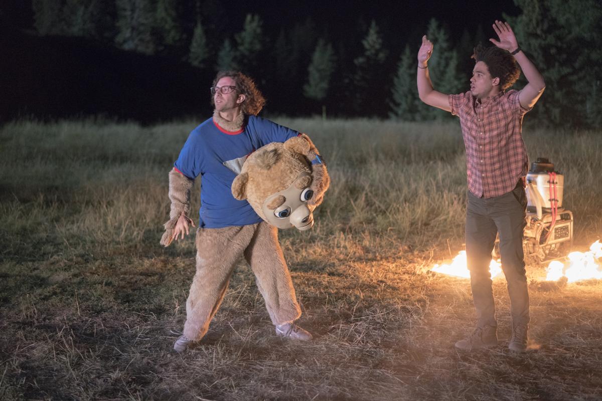 Kyle Mooney and Jorge Lendeborg Jr. in 'Brigsby Bear.'