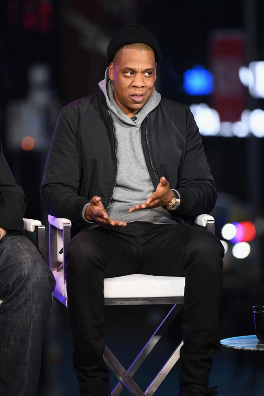 Jay-Z speaks onstage during Time and Punishment: A Town Hall Discussion with Jay-Z and Harvey Weinstein on Spike TV at MTV Studios on March 8, 2017 in New York City.