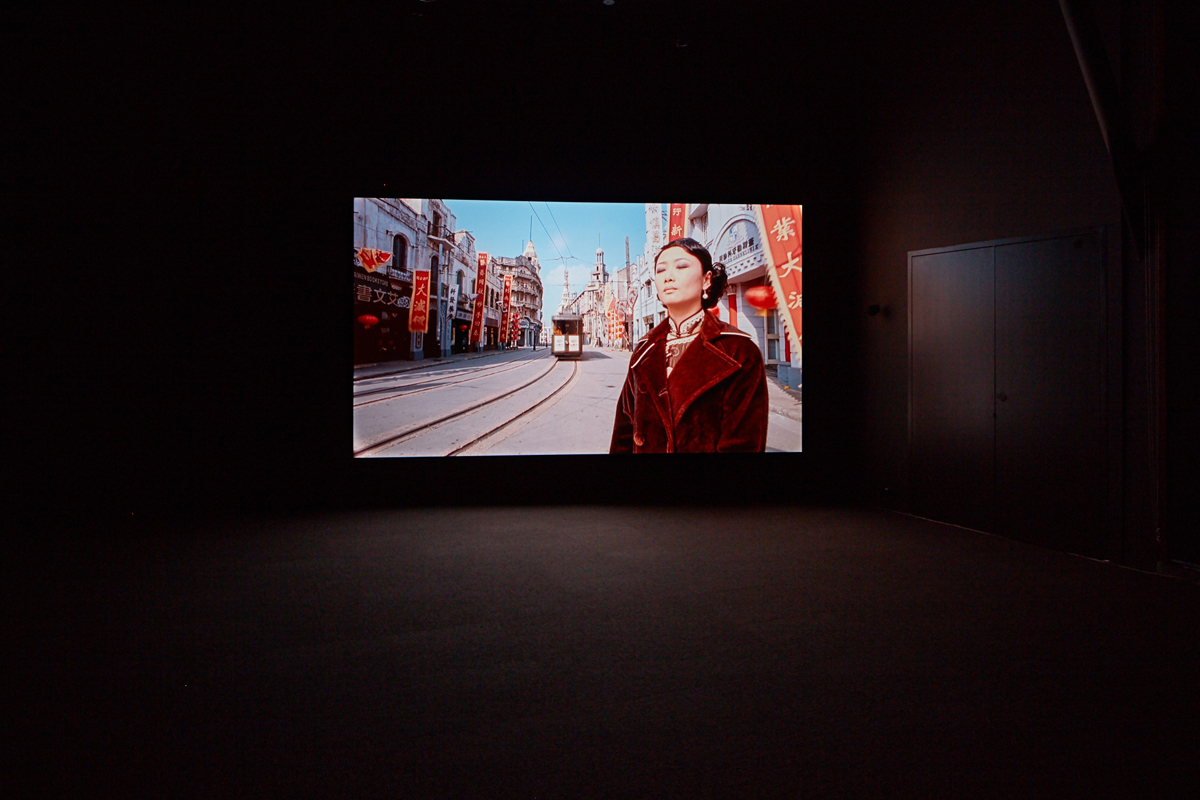 Installation view of Isaac Julien, 'Better Life,' 2010 in Gray Box Gallery, San Francisco Art Institute - Fort Mason Campus.