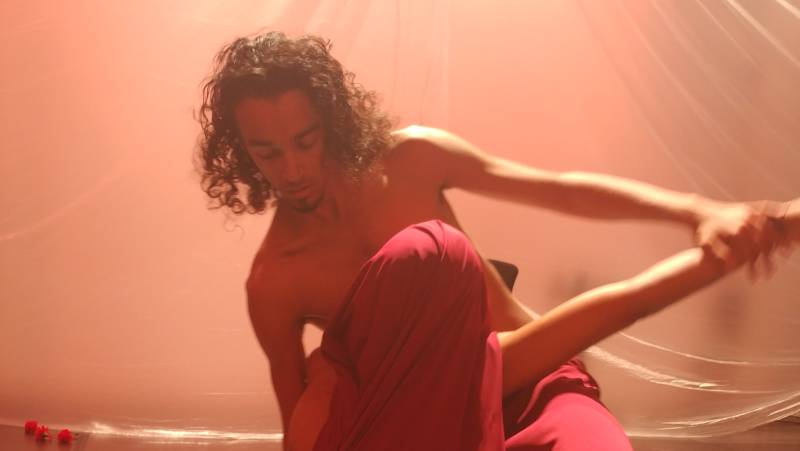 "Javier Stell-Frésquez and Ivan ""Ivy"" Monteiro dance a strange duet in 'Mother The Verb' at CounterPulse."