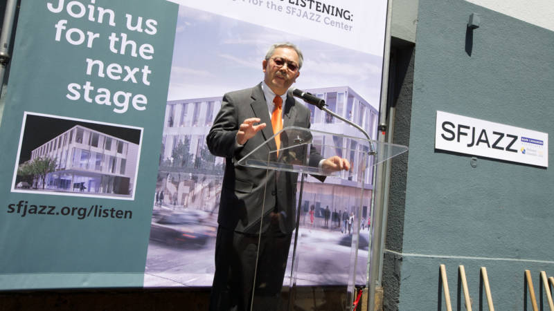 Mayor Ed Lee speaks at a groundbreaking ceremony for SFJAZZ's new performance space and center in May 2011.