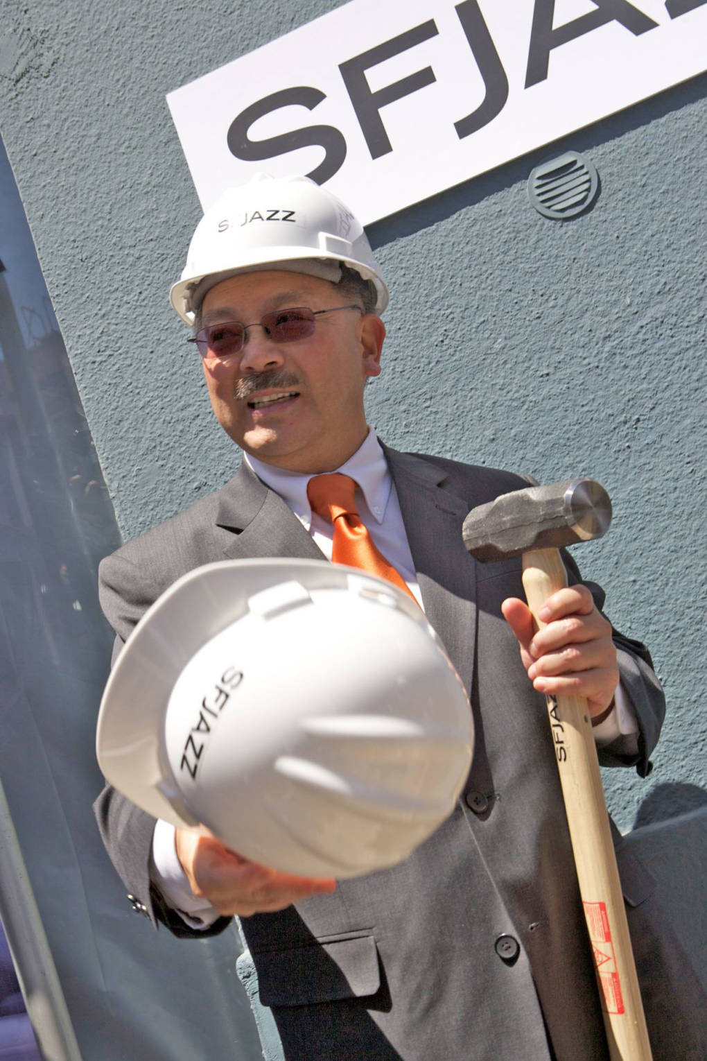 Mayor Ed Lee at a groundbreaking ceremony for SFJAZZ's new performance space and center in May 2011.