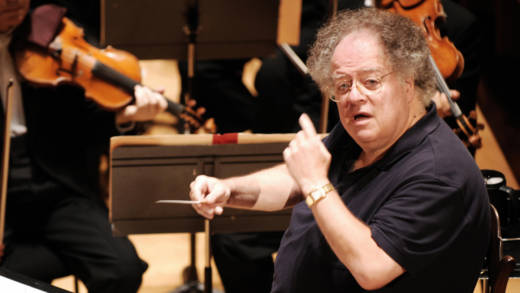 James Levine and the Boston Symphony Orchestra perform Hector Berlioz's 'Damnation of Faust', 04 September 2007 during a rehearsal at the Salle Pleyel in Paris.