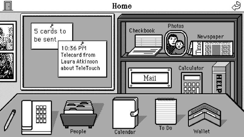 Susan Kare, 'Sketch for Magic Cap graphical user interface,' c. 1992.