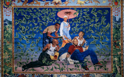 Artist Kehinde Wiley's painting of rap royalty will be on display in the Oakland Museum of California's exhibition 'Respect: Hip Hop Style and Wisdom'