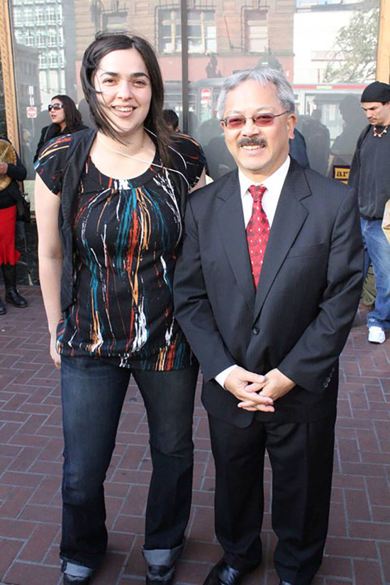 Josette Melchor of Gray Area Foundation with Mayor Ed Lee in 2011.