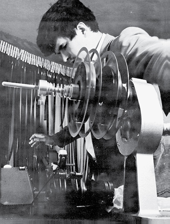 Stan Brakhage at work on 'Dog Star Man: Prelude.'