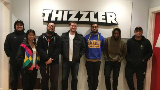 The team at Thizzler on the Roof, an Oakland-based hip hop media company that specializes in promoting the Bay Area rap scene. Small creative organizations like this one could face tough choices if the Net Neutrality rules are repealed.