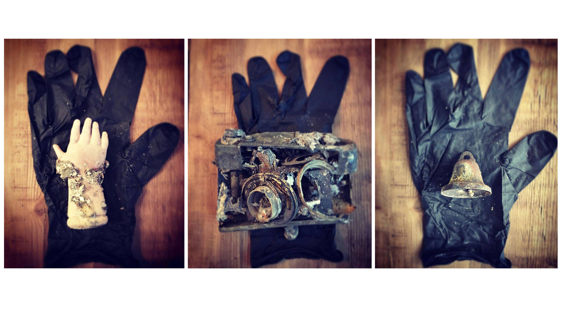 Selections from 'Forage From Fire,' a photo series by Norma Quintana of items found in the ashes of her home in Napa after the October fires. Norma Quintana
