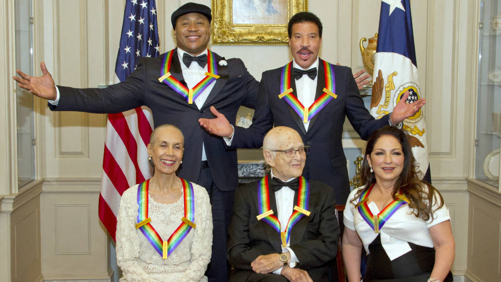The five recipients of the 40th Annual Kennedy Center Honors (clockwise from left):LL Cool J; Lionel Richie; Gloria Estefan; Norman Lear and Carmen de Lavallade.