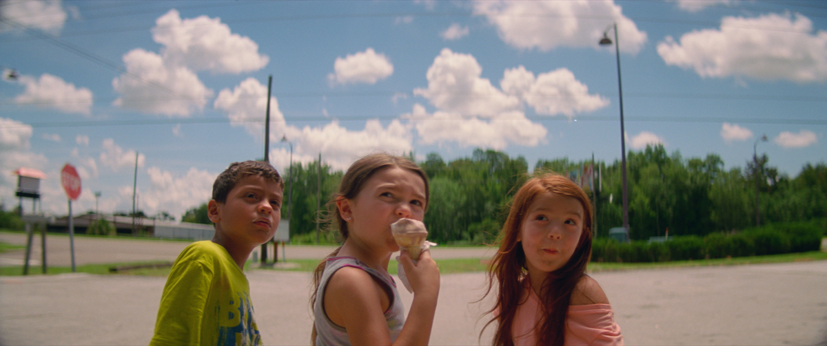 Christopher Rivera, Brooklynn Prince, and Valeria Cotto in 'The Florida Project.'