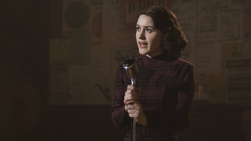 Rachel Brosnahan plays housewife-turned-stand-up-comic Midge Maisel in Amazon's new series, 'The Marvelous Mrs. Maisel.'