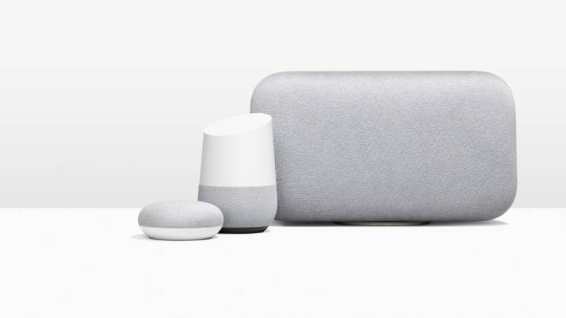 Meet the Google Home family. Three devices each ready to respond to the sound of your voice -- and your children's voices.