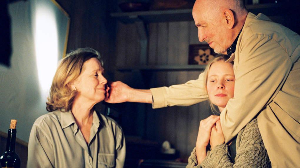 Liv Ullmann, Julia Dufvenius and Ingmar Bergman on the set of 'Saraband'