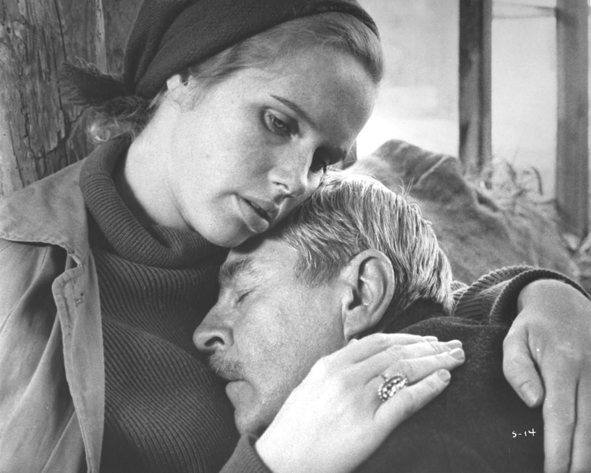 Liv Ullmann and Max Von Sydow in 'Shame,' 1968.