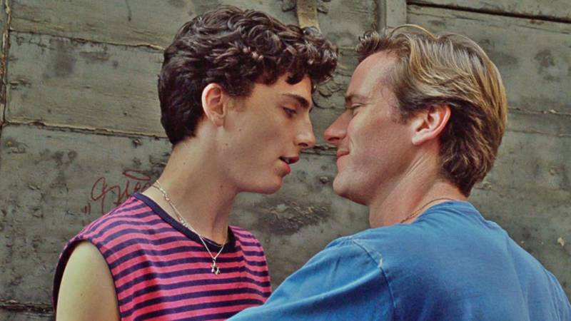 Timothée Chalamet and Armie Hammer in 'Call Me By Your Name,' nominated for four Academy Awards.