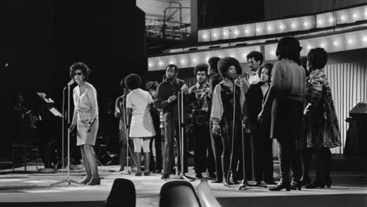 The Edwin Hawkins Singers in the Netherlands, performing in 1970.