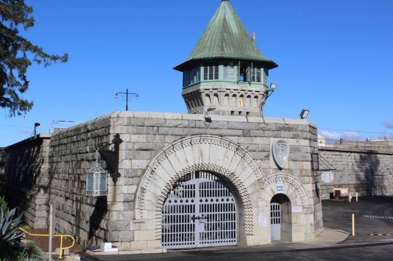 Folsom Prison's imposing gatehouse.