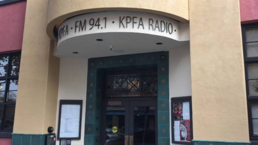 Outside the front of the KPFA building in Berkeley.