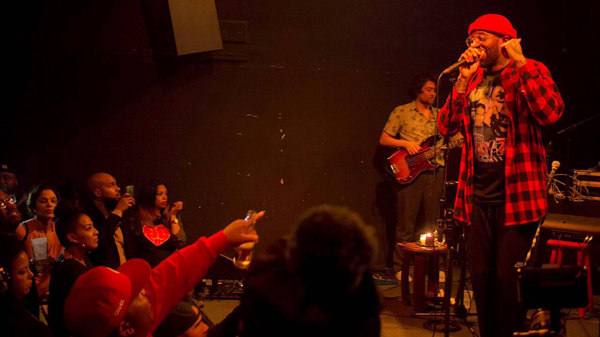 Kevin Allen performs Jan. 11, 2018, in Oakland. Janae Nikole