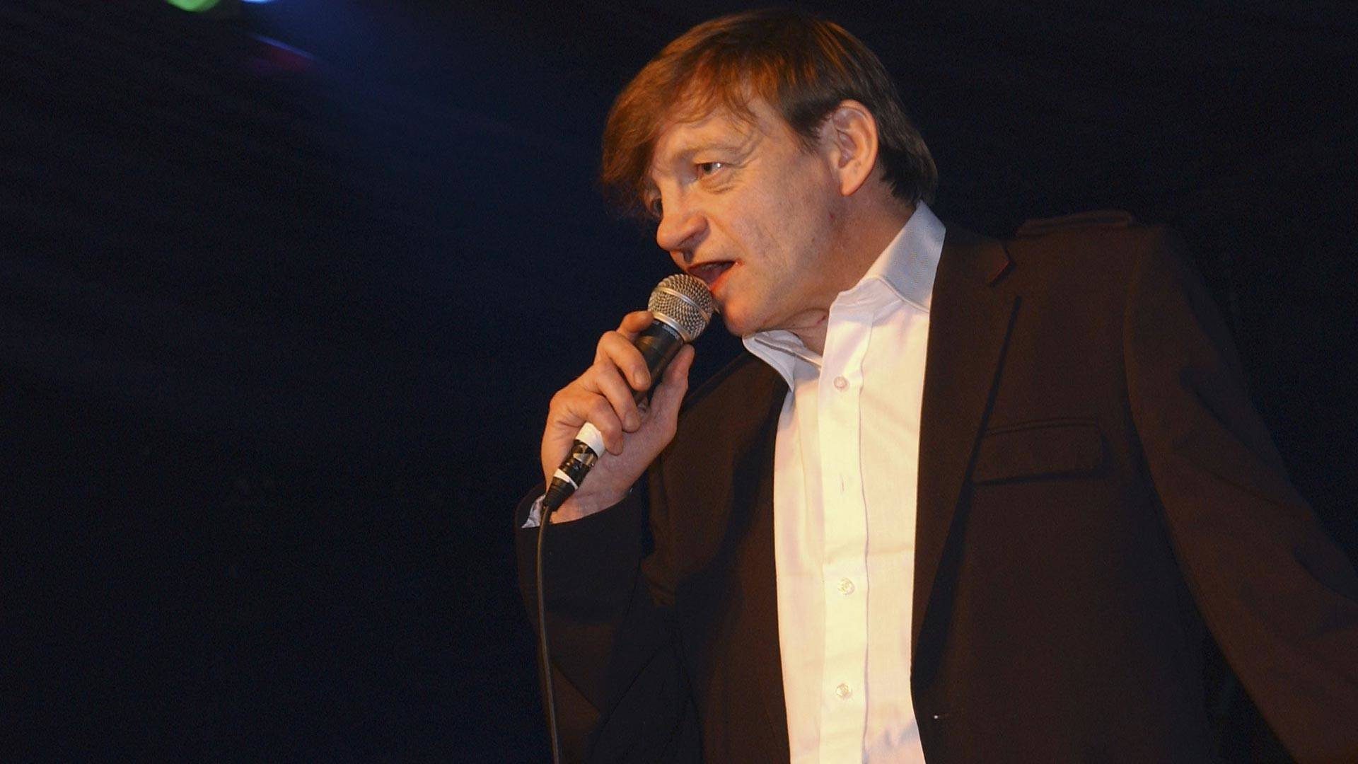 Mark E. Smith of The Fall performs at the Hammersmith Palais on April 1, 2007 in London. This was the last scheduled concert at the historic West London venue, immortalized by The Clash song 'White Man In Hammersmith Palais.' Jim Dyson/Getty Images
