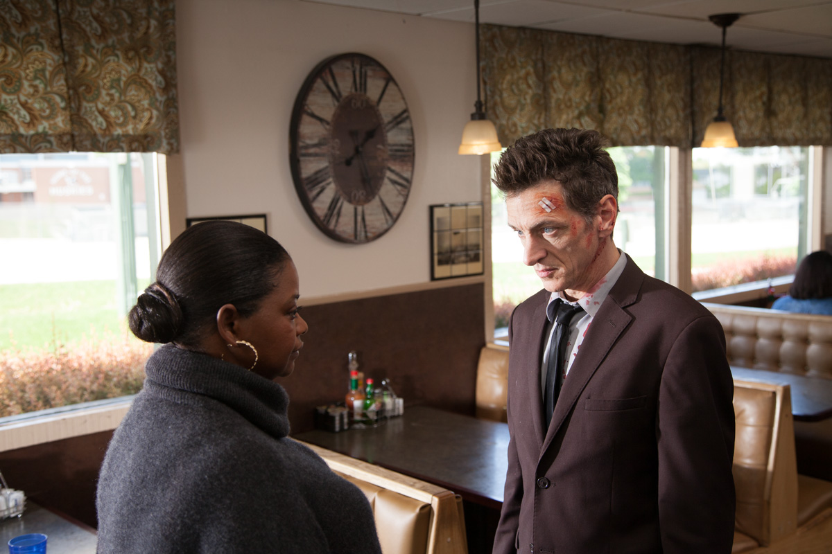 Octavia Spence and John Hawkes in 'Small Town Crime.'