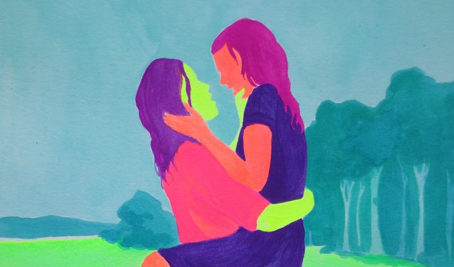 Detail from 'The Notebook' in Crystal Vielula's Queer Movie Stills series.