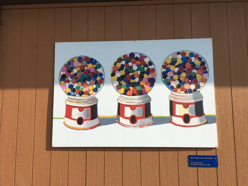A student reproduction of Wayne Thiebaud's 'Three Machines'. The original hangs in the de Young Museum in San Francisco.