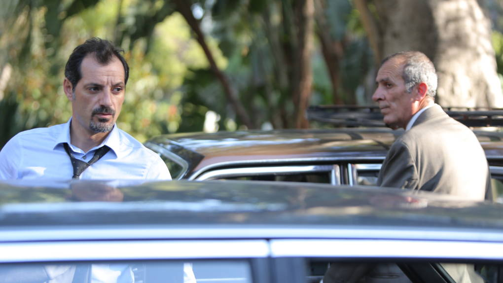 In'The Insult,' a minor argument between a Lebanese Christian named Toni (Adel Karam, left) and a Palestinian refugee named Yasser (Kamel El Basha) spirals out of control.