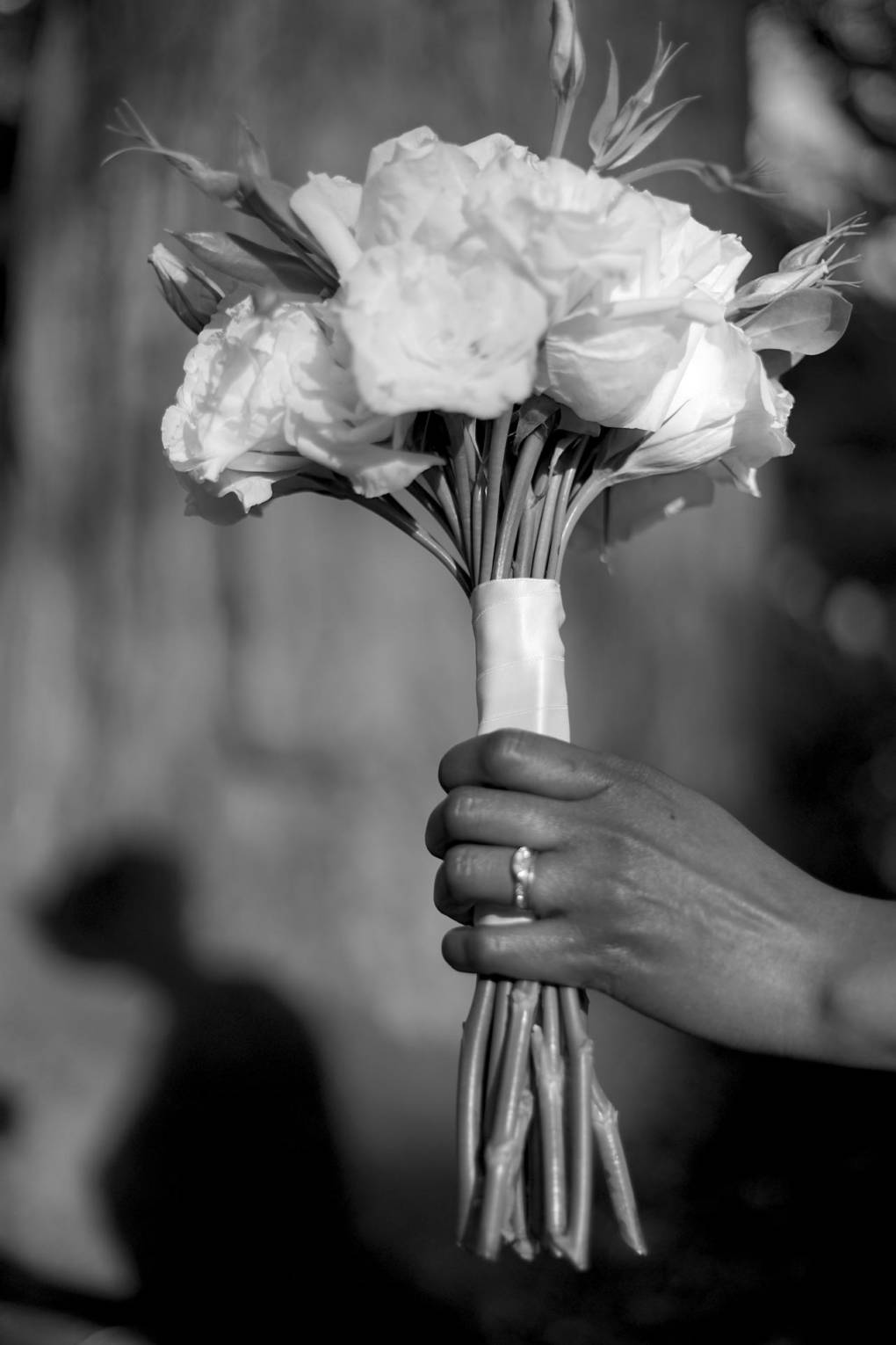 Dalila's hand, on the day of her wedding. Photo taken just last week.