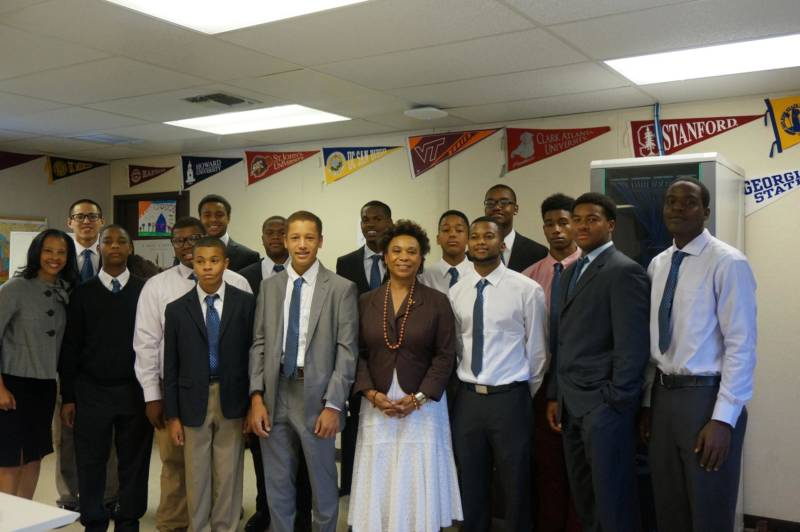 Congresswoman Barbara Lee visits the East Oakland Youth Development Center in East Oakland.