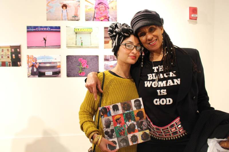 Fatima and Dafina attend an opening at Betti Ono Art Gallery in downtown Oakland.