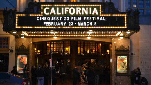 A marquee from a previous edition of Cinequest. The festival returns Feb. 27-March 11 at the California Theatre, Hammer Theatre in San Jose and Century 20 Theaters in Redwood City