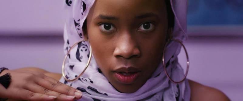Zoe Renee plays Summer, a 'shape-shifting, pepperoni- loving, black teenage Instagram celebrity' who converts to Islam, in Nijla Mu'min's film 'Jinn.'