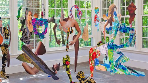 Joiri Minaya, '#dominicanwomengooglesearch,' 2016. Installation view at Wave Hill Sunroom Project Space, 2016.