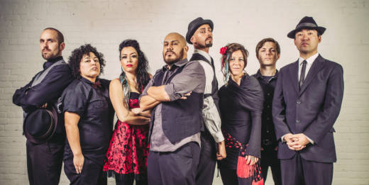 The cumbia meets punk band La Misa Negra, one of the bands performing at the San Jose Jazz Winter Fest this month