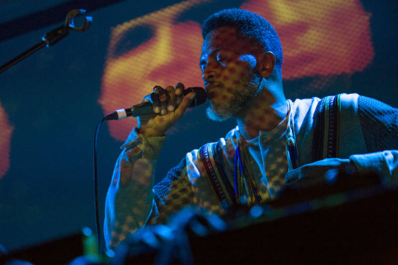 Shabazz Palaces plays the 2018 Noise Pop Music and Arts Festival. (Estefany Gonzalez)