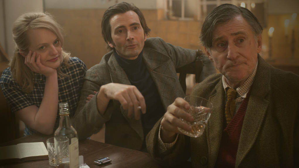 Gabriel Byrne, David Tennant and Elizabeth Moss in 'Mad to be Normal.'