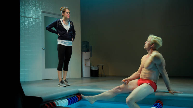 Ray tries to talk his ex-girlfriend Lydia into getting him some PED's for an important race in 'Red Speedo' by Lucas Hnath.